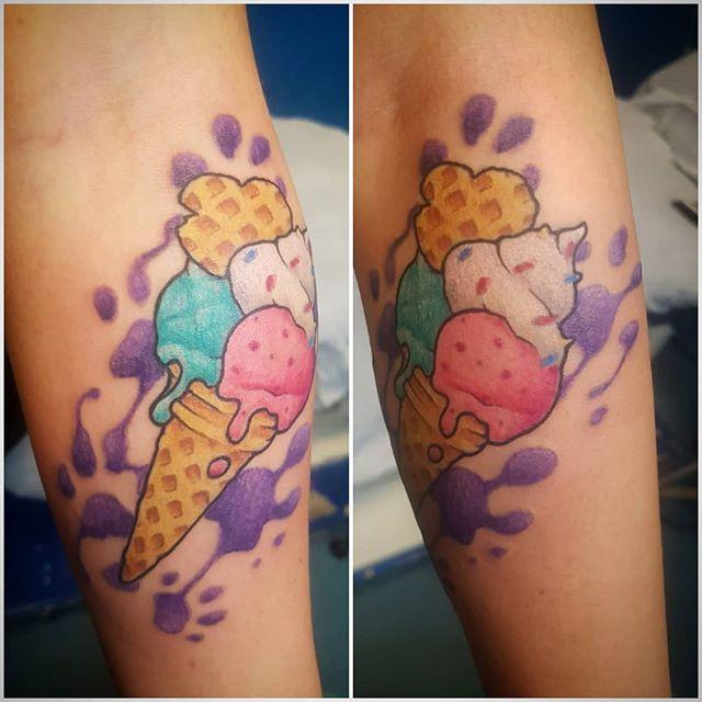 Tatuaggio appena eseguito da Fede. -