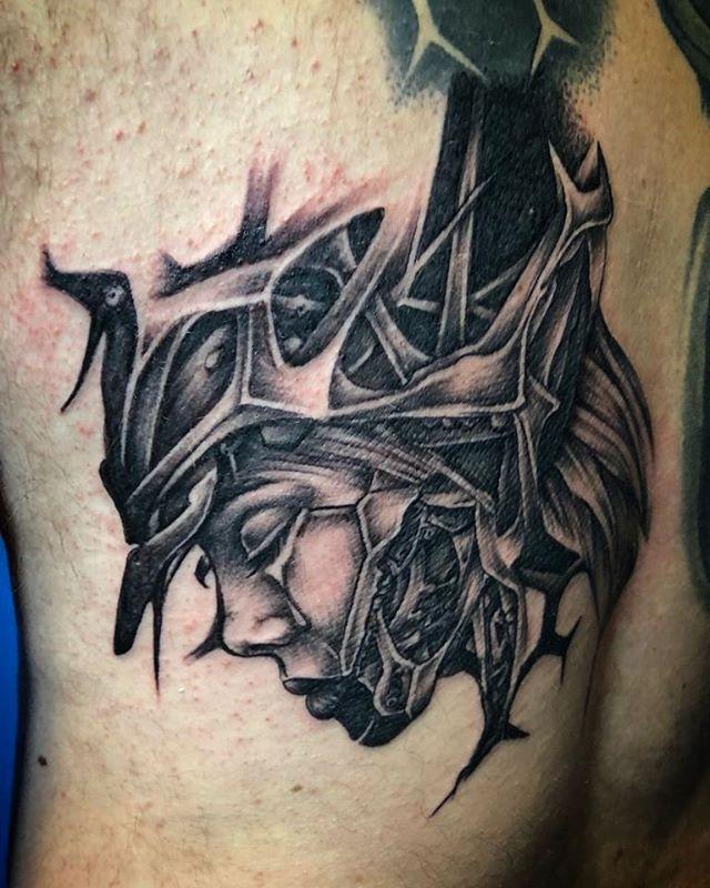 Tatuaggio in corso d'opera appena eseguito da Fede. - #bodyart.