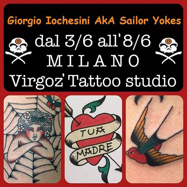 Giorgio Iochesini aka Sailor Yokes sarà ancora nostro ospite dal 3 all'8 giugno. Affrettatevi a prendere appuntamento! -