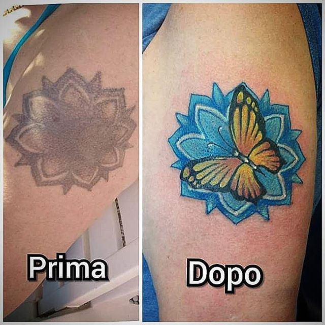 Restyling di un tatuaggio appena eseguito da Fede! -