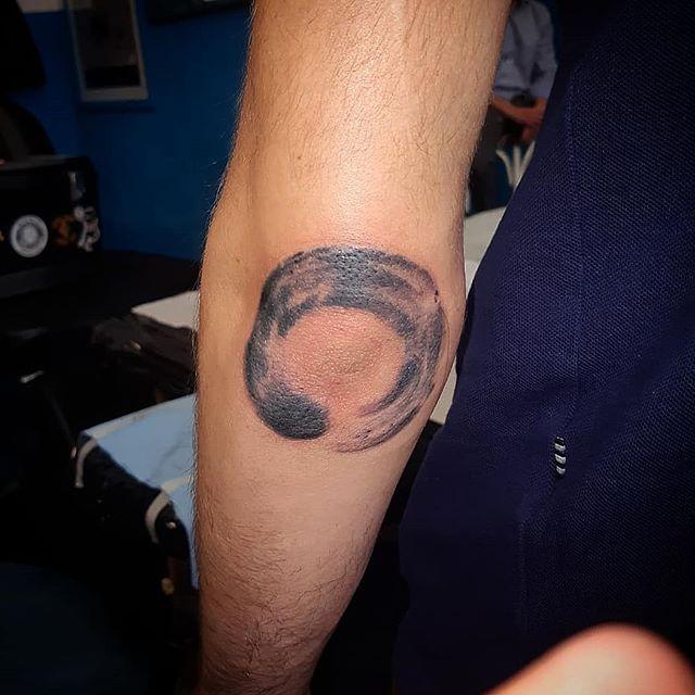 Enso tattoo appena eseguito da Aigor!