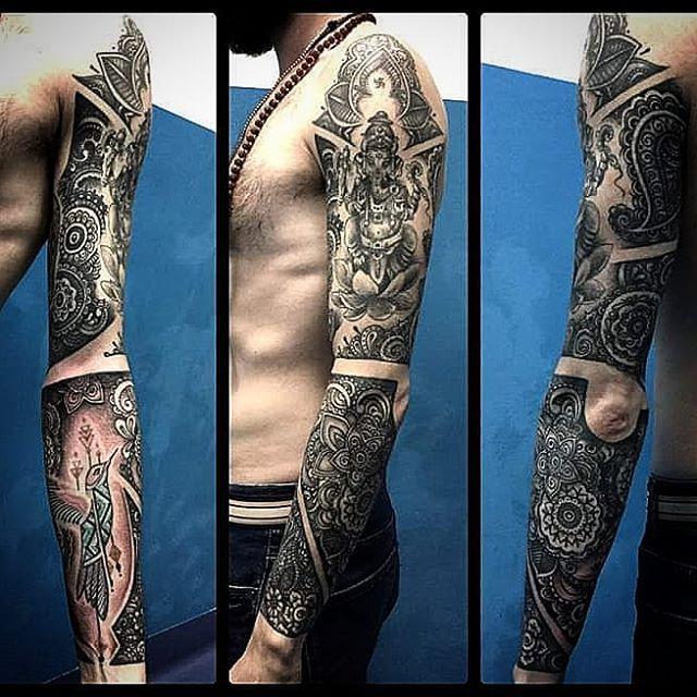 Tatuaggio a tutto Braccio appena finito da Arrigo! -