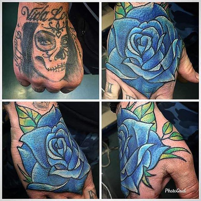 Copertura appena effettuata da Fede di un 'brutto' tatuaggio che non era stato effettuato da noi! -